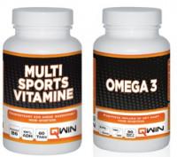 Aanbieding QWIN Multi Sports Vitamine + QWIN Omega 3