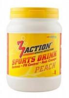 Aanbieding 3Action Sports Drink Lemon 1000 gram + Gratis 3Action Bidon 750 ml