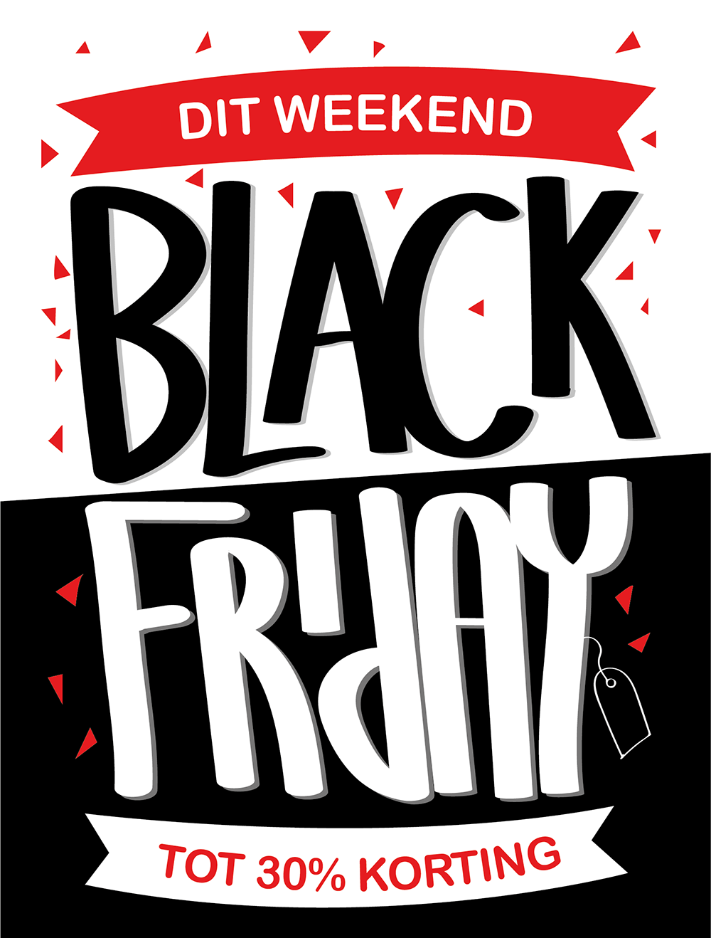 Black Friday! Dit weekend tot 30% korting!