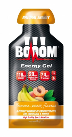Aanbieding BOOOM Energy Fruit Gels - Banana/Peach - 1 x 40 gram