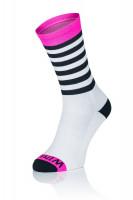 Winaar BWP stripes - Wit-Roze met Zwarte Strepen