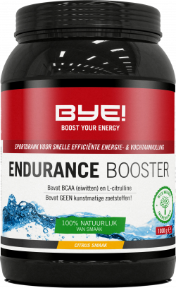 BYE! Endurance Booster - 1000 gram + Gratis 1x BYE! Endurance Bar
