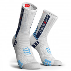 Compressport Pro Racing Socks v3.1 Compressiesokken - Wit/Blauw