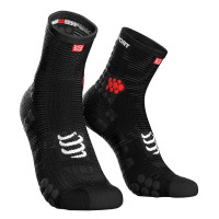 Compressport Pro Racing Socks v3.1 Run High Compressiesokken - Zwart