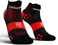Compressport Pro Racing Socks v3.1 Ultralight Run Low Compressiesokken - Zwart/Rood