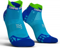 Compressport Pro Racing Socks v3.1 Ultralight Run Low Compressiesokken - Fluo Blauw