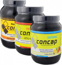 Concap Isotonic + Concap Fast Energy + Concap Recovery Shake + 10 gratis gels of repen