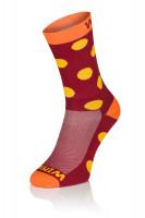 Winaar BO dot - Rood-Oranje Met Gele Stippen
