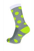 Winaar GWF dots - Grijs-Wit Met Fluo Gele Stippen