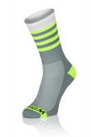 Winaar GFW stripes - Grijs-Wit Met Fluo Gele Strepen
