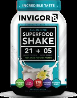 Afslankdeal INVIGOR8 Superfood shake + Lipodrift