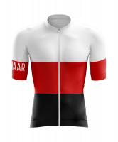 Winaar BWR Fietsshirt korte mouw - Zwart-Rood-Wit