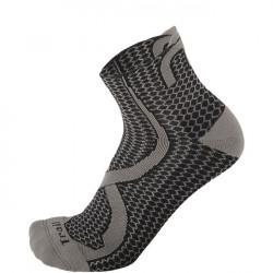 Mico Trail Run Socks Light Weight Argento XT2 - Zwart