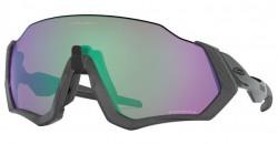 Oakley Flight Jacket Zonnebril Matte Steel - Prizm Road Jade Lens