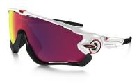 Oakley Jawbreaker Zonnebril Polished White - Prizm Road Lens
