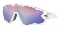 Oakley Jawbreaker Zonnebril Polished White - Prizm Snow Sapphire Lens
