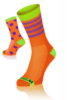Winaar OGV dot stripe mix - Oranje-Groen Met Paarse Stippen & Strepen