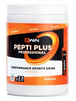 Aanbieding Qwin Peptiplus Sportdrank - Orange - 380 gram (THT 31-5-2021)