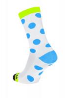 Winaar WBF dots - Wit-Fluo Geel Met Blauwe Stippen
