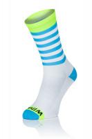 Winaar WBF stripes - Blauw-Wit Met Fluo Gele Accenten