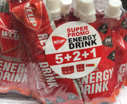 WCUP Energy Drink - 5 + 2 + 1 gratis
