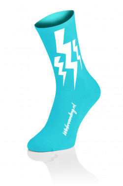 Lightning Socks - Fluo Blauw