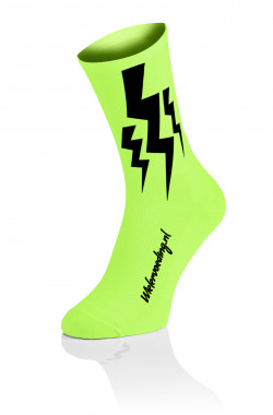 Lightning Socks - Fluo Geel