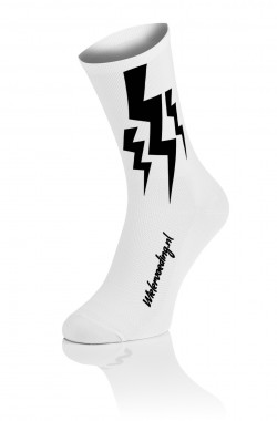Wielervoeding Lightning Socks - Wit