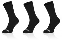 3x Winaar Merino Black Socks