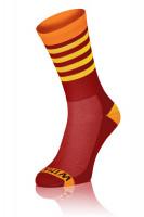 Winaar BO stripes - Rood-Oranje Met Gele Strepen