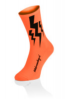 Wielervoeding Lightning Socks - Fluo Orange